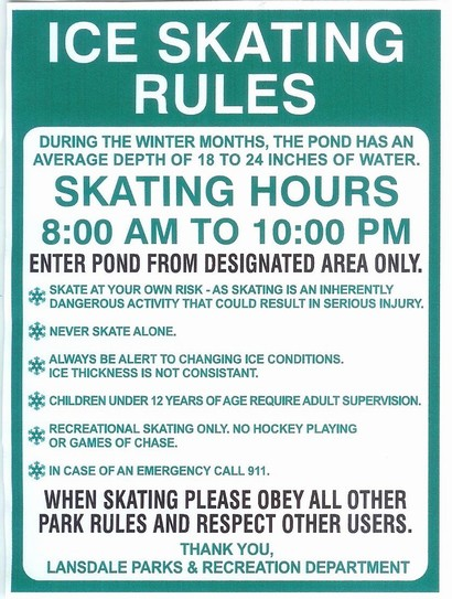 Ice Skating Rules